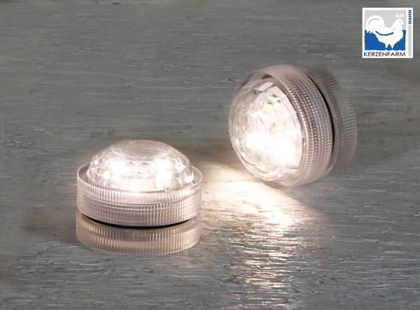 LED Teelichter 1 Stück mit je 3 SMD-LEDs weiß / Tauchlicht / wasserdicht / Batteriebetrieb