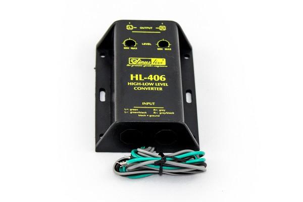 Sinuslive HL-406 High-Low-Level-Converter Lautsprecher Cinch-Adapter