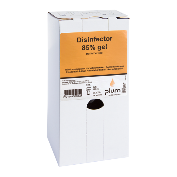 Plum Disinfector 85% - 1000 ml Bag-in-Box - Desinfektionsmittel hygienische Handdesinfektion Desinfektion ( Viruzid ) Covid-19