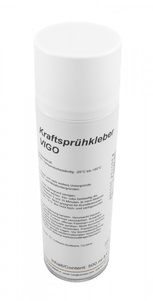 Variotex Sprühkleber 500 ml Kraftkleber Sprühklebstoff mit einstellbarer Sprühstrahldüse