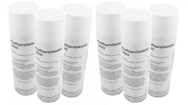 Variotex Sprühkleber 6 x 500 ml Kraftkleber Sprühklebstoff mit einstellbarer Sprühstrahldüse
