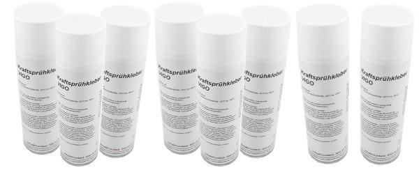 Variotex Sprühkleber 8 x 500 ml Kraftkleber Sprühklebstoff mit einstellbarer Sprühstrahldüse