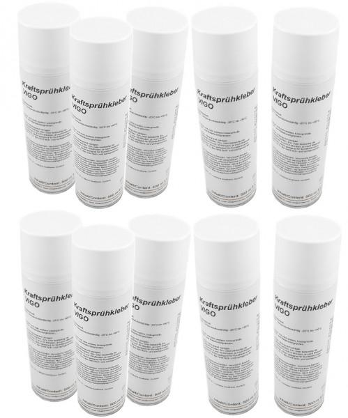 Variotex Sprühkleber 10 x 500 ml Kraftkleber Sprühklebstoff mit einstellbarer Sprühstrahldüse