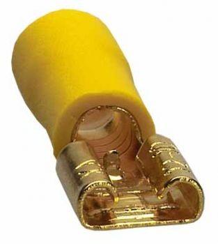 Sinuslive FS 6.3-6.0 mm Flachstecker vergoldet (10 Stück) im Beutel Flachstecker 24-Karat vergoldet und isoliert