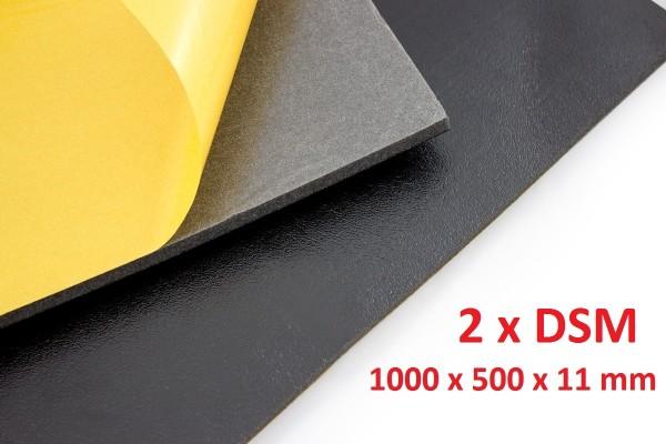 Dämmschaummatte DSM Matte 2 x 1.000 x 500 x 11mm Schallschutz Kälteschutz Wärmeschutz