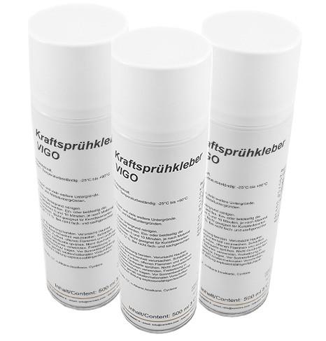 Variotex Sprühkleber 3 x 500 ml Kraftkleber Sprühklebstoff mit einstellbarer Sprühstrahldüse
