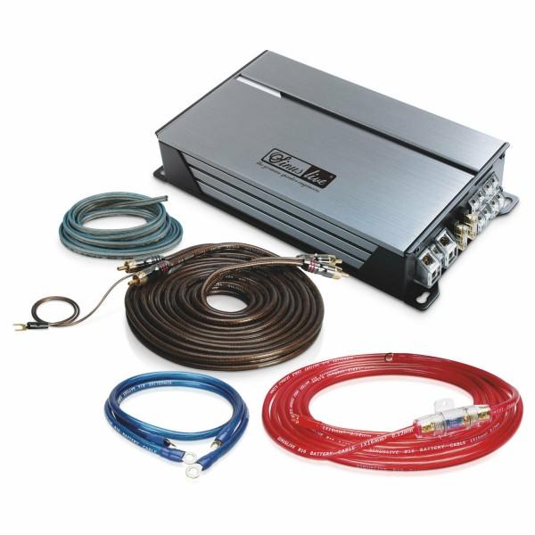 Sinuslive Endstufen Set SL-A4100D 4x80 Watt RMS mit Strom- und Lautsprecherkabel