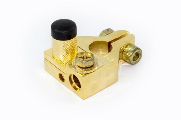 Sinuslive Batterieklemme minus | Kabeleingänge 1x 10 mm²/1x 35 mm² und Ringösenschraube
