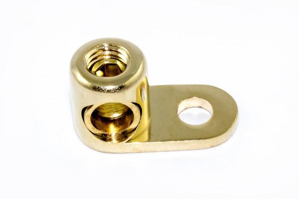 Sinuslive MKS50 Massekabelschuh Winkel Eingang 12mm bis 50mm² Massekabelschuh 90° Winkel mit 8mm Befestigungsloch