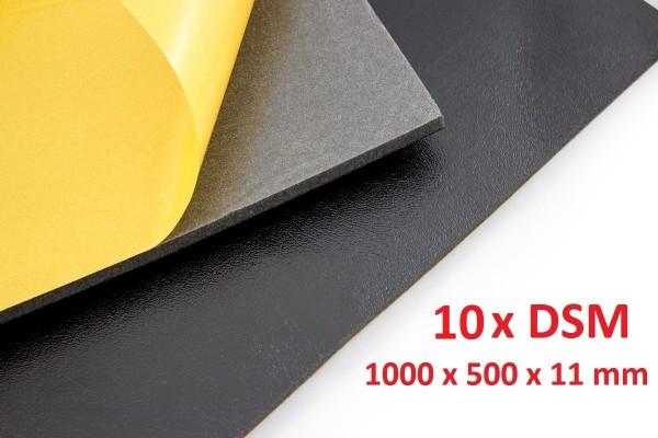 Dämmschaummatte DSM Matte 10 x 1.000 x 500 x 11mm Schallschutz Kälteschutz Wärmeschutz