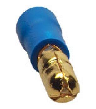 Sinuslive RS-2.5 mm Rundstecker vergoldet (10 Stück) im Beutel Rundstecker 24-Karat vergoldet und isoliert