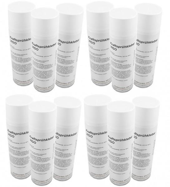 Variotex Sprühkleber 12 x 500 ml Kraftkleber Sprühklebstoff mit einstellbarer Sprühstrahldüse