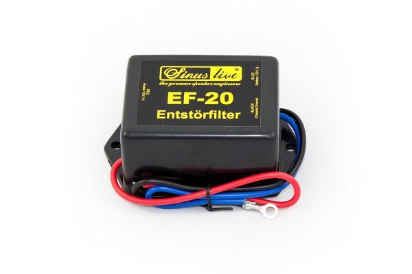 Sinuslive EF-20 Entstörfilter 20 Ampere Entstörfilter galvanische Autoradio