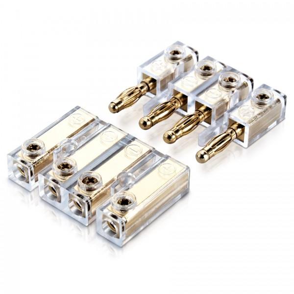 Sinuslive BC4 4-fach Banana-Schnellverbinder Kabelschnellverbinder Kabelverbinder Lautsprecherkabel