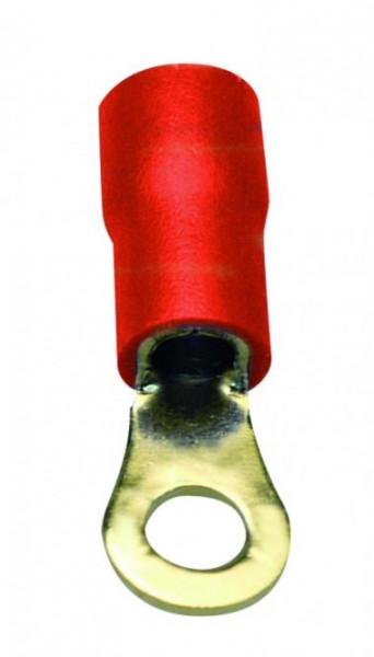 Sinuslive RKS-1.5 Ringkabelschuhe 1.5mm Loch / RKS-1,5, rot: Kabeleingang 1,5mm² bis 4,0mm²