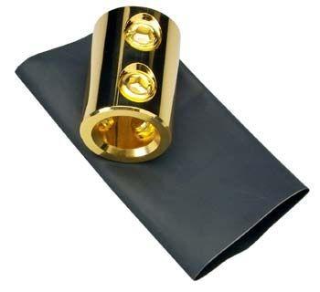 Sinuslive A 100-50 Reduzierstück für Batteriekabel Stromkabel massiv Kupfer, vergoldet