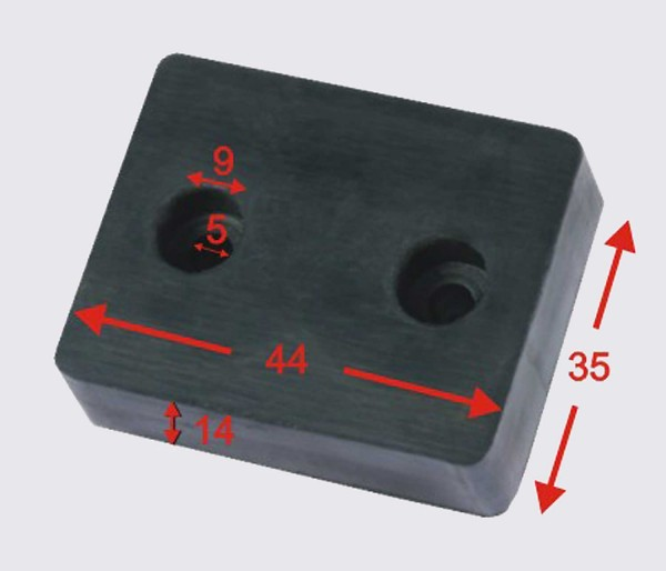 Reckhorn G-44 / 14 mm Gummiblock Gummidämpfer Gummipuffer