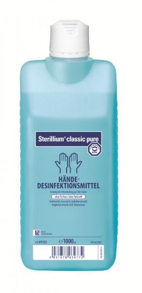 Sterillium® classic pure   Parfümfreie Händedesinfektion   1000 ml Flasche