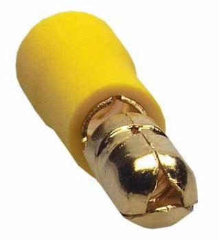 Sinuslive RS-6.0 mm Rundstecker vergoldet (10 Stück) im Beutel Rundstecker 24-Karat vergoldet und isoliert