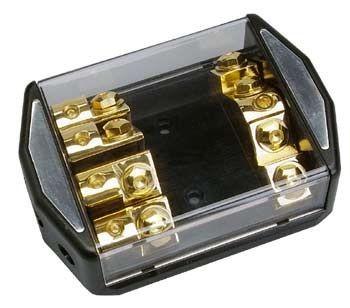 Sinuslive SB1-4 Sicherungsverteilerblock für 4 ANL-Sicherungen Stromverteiler